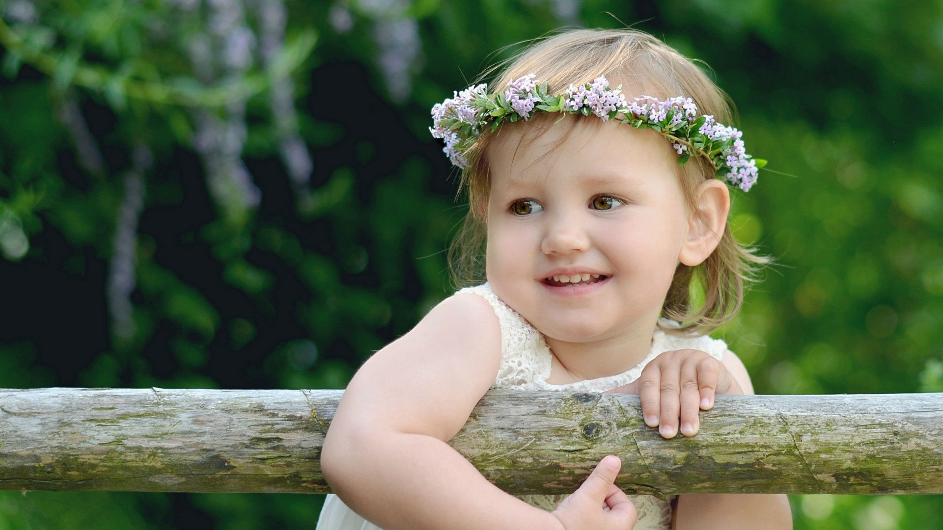 Download wallpaper 1920x1080 child girl wreath summer smile child girl wreath altavistaventures Image collections