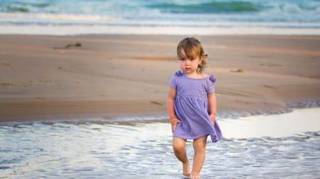 child, sea, surf