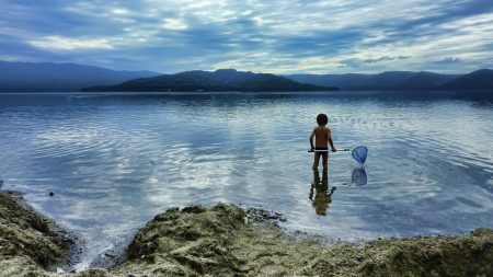 child, sea, swimming
