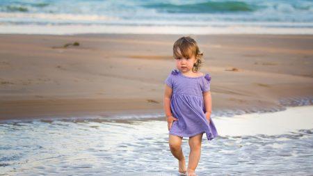 child, water, sea