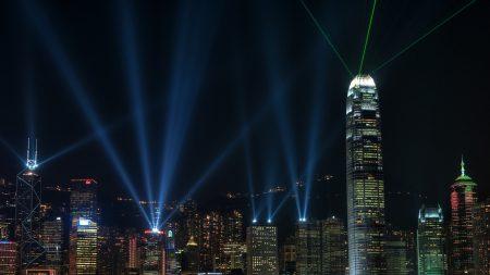 china hong kong night hong kong skyscrapers night hong kong night view