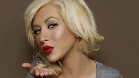 christina aguilera, face, lipstick