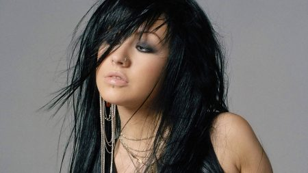 christina aguilera, hair, brunette