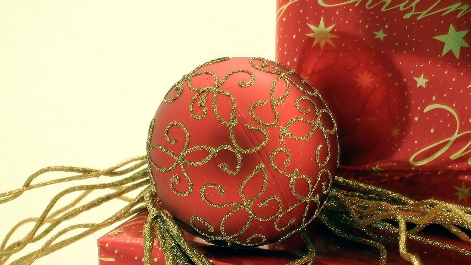 Download Wallpaper 1920x1080 Christmas Decorations Gift Glitter