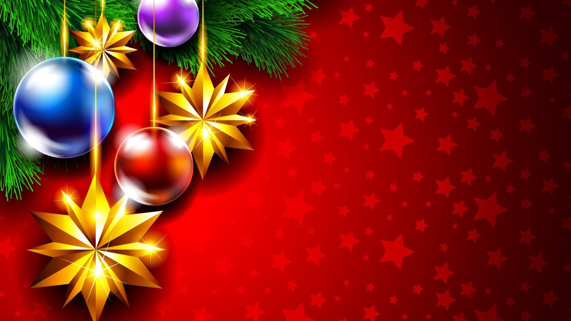Download Wallpaper 1920x1080 christmas decorations, twig ...