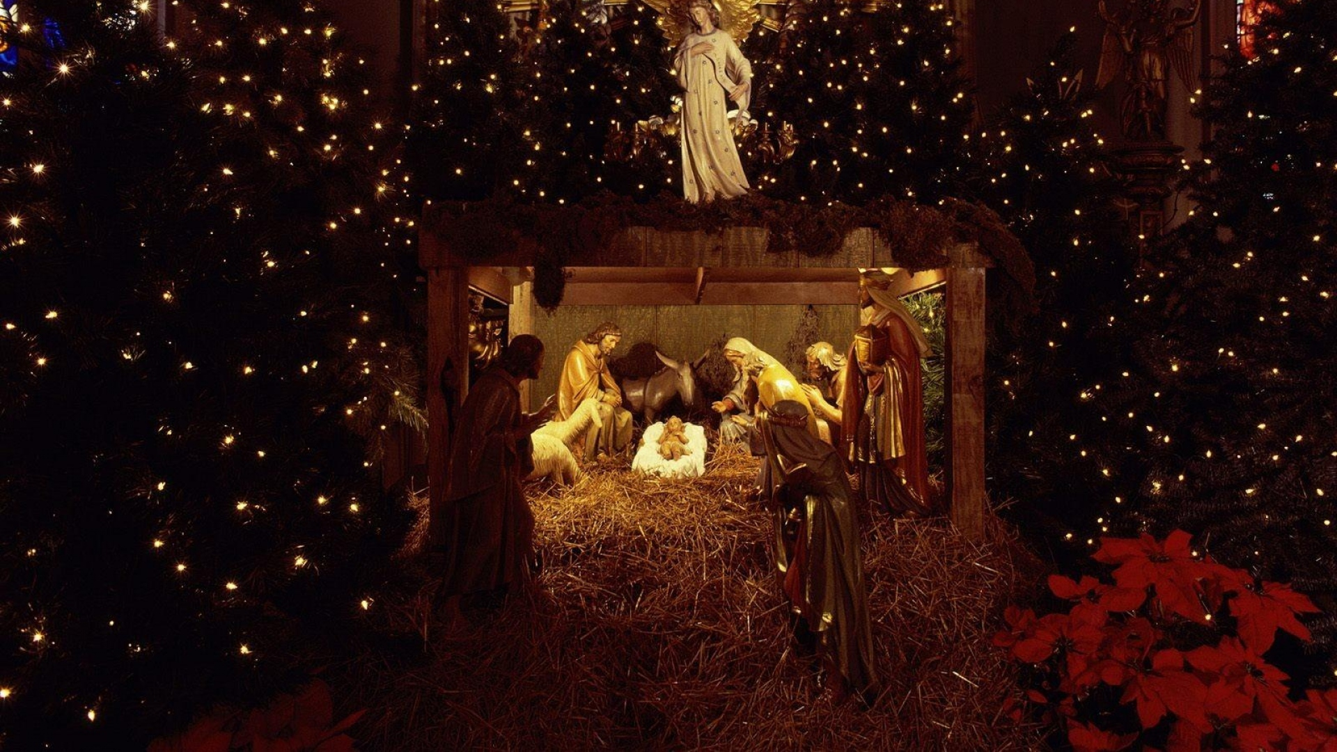 Download Wallpaper 1920x1080 Christmas Jesus Nurseries