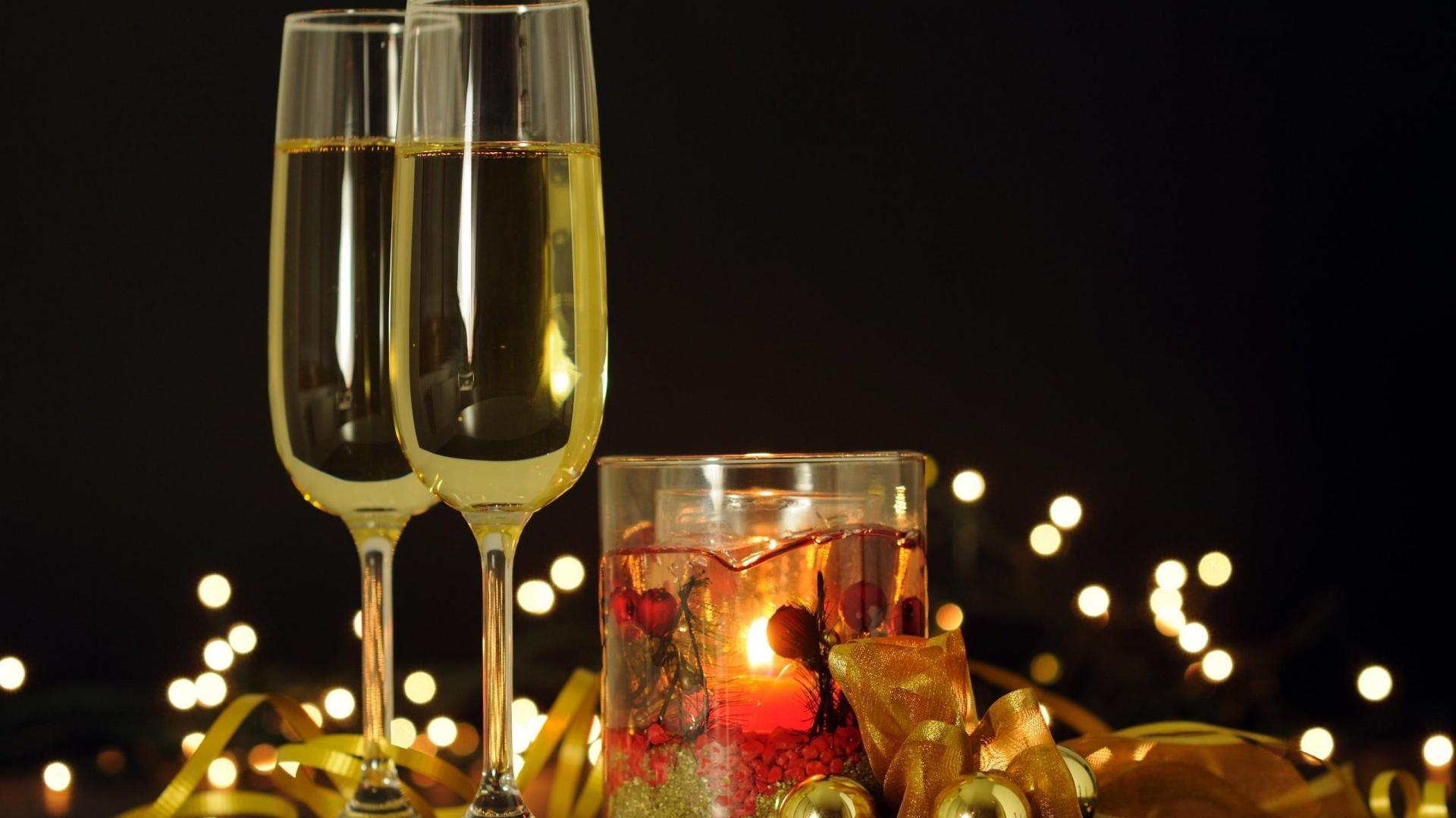 Бокал с шампанским открытка 482