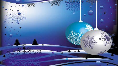 christmas toys, balls, snowflakes