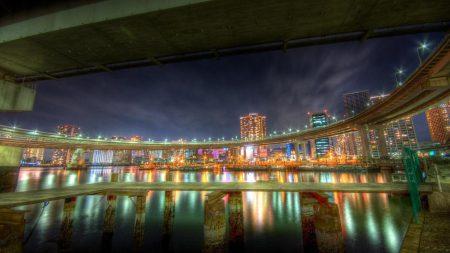 city, night, city lights