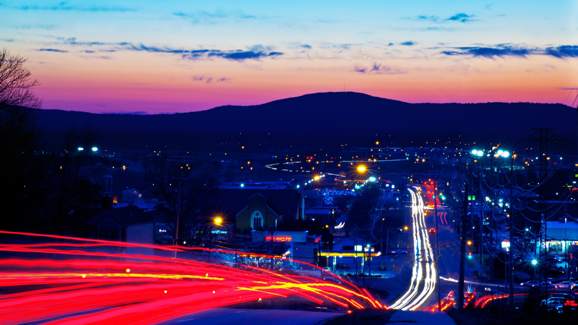 download wallpaper 1920x1080 city??, night, road, speed, lights full