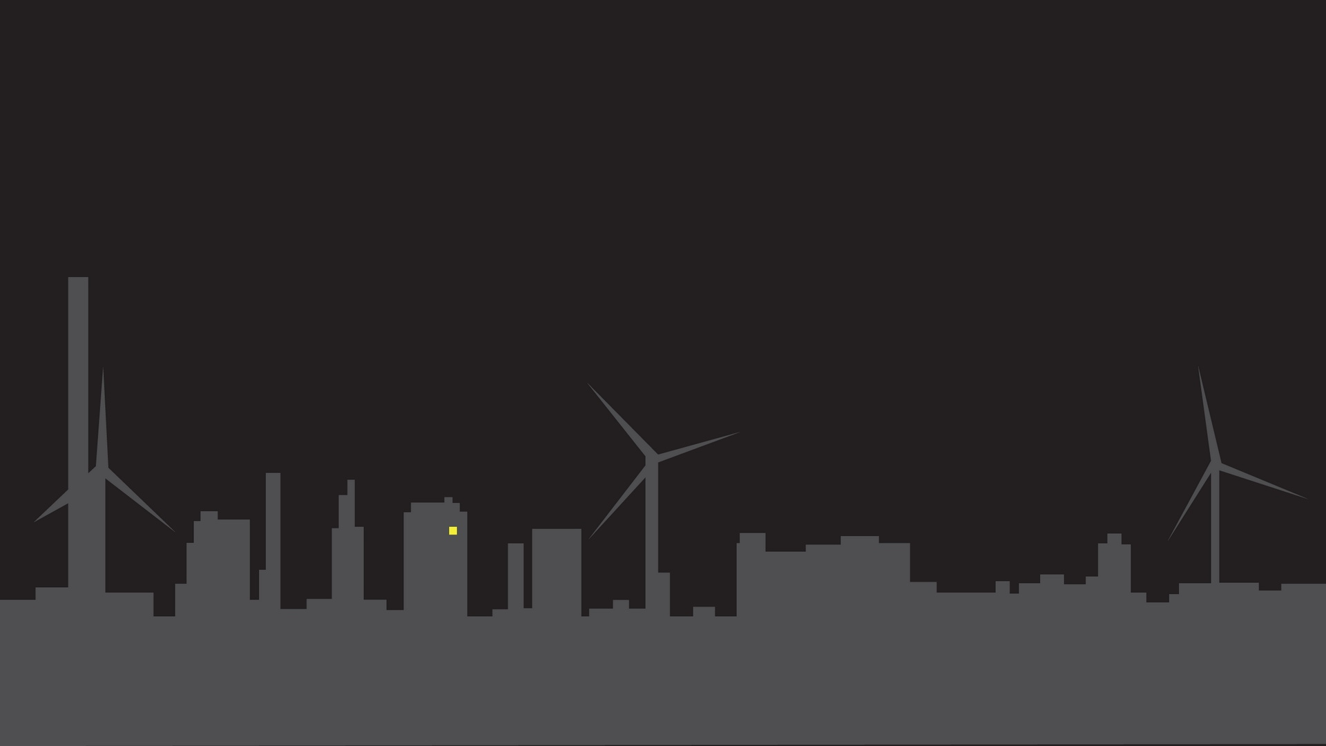 Download wallpaper 1920x1080 city silhouette for Minimal art silhouette