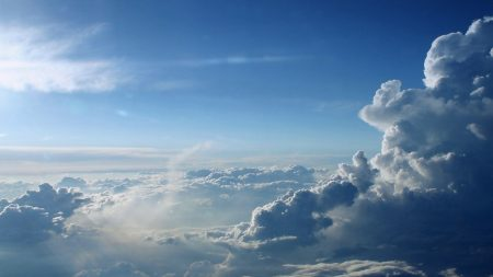 clouds, height, blue