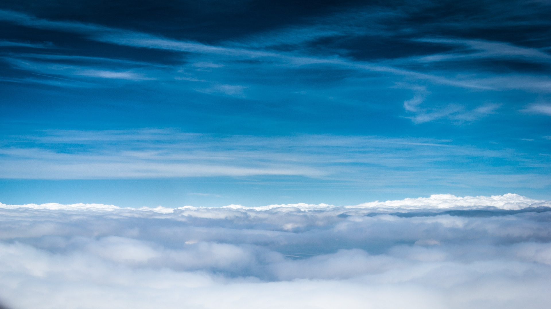 Download Wallpaper 1920x1080 Clouds Sky Blue Shades Lines Air