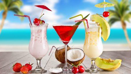 cocktail, fruit, summer