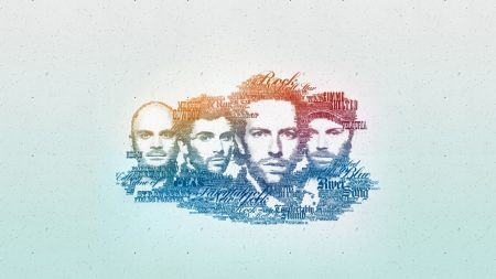 coldplay, faces, graphics