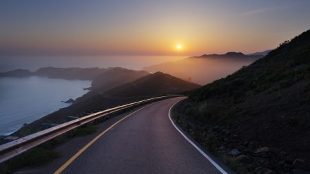 conzelman road, sunset, turning road