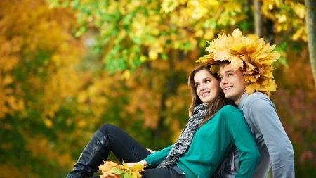 couple, love, fall