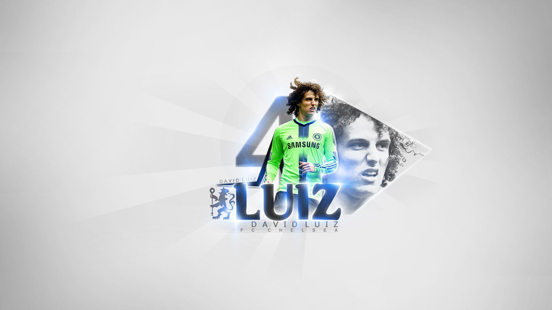 Download Wallpaper 1920x1080 David Luiz, Chelsea