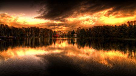 decline, evening, reflection