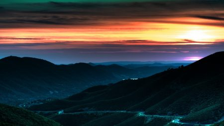 decline, sky, hills