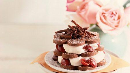 dessert, cake, cake layers