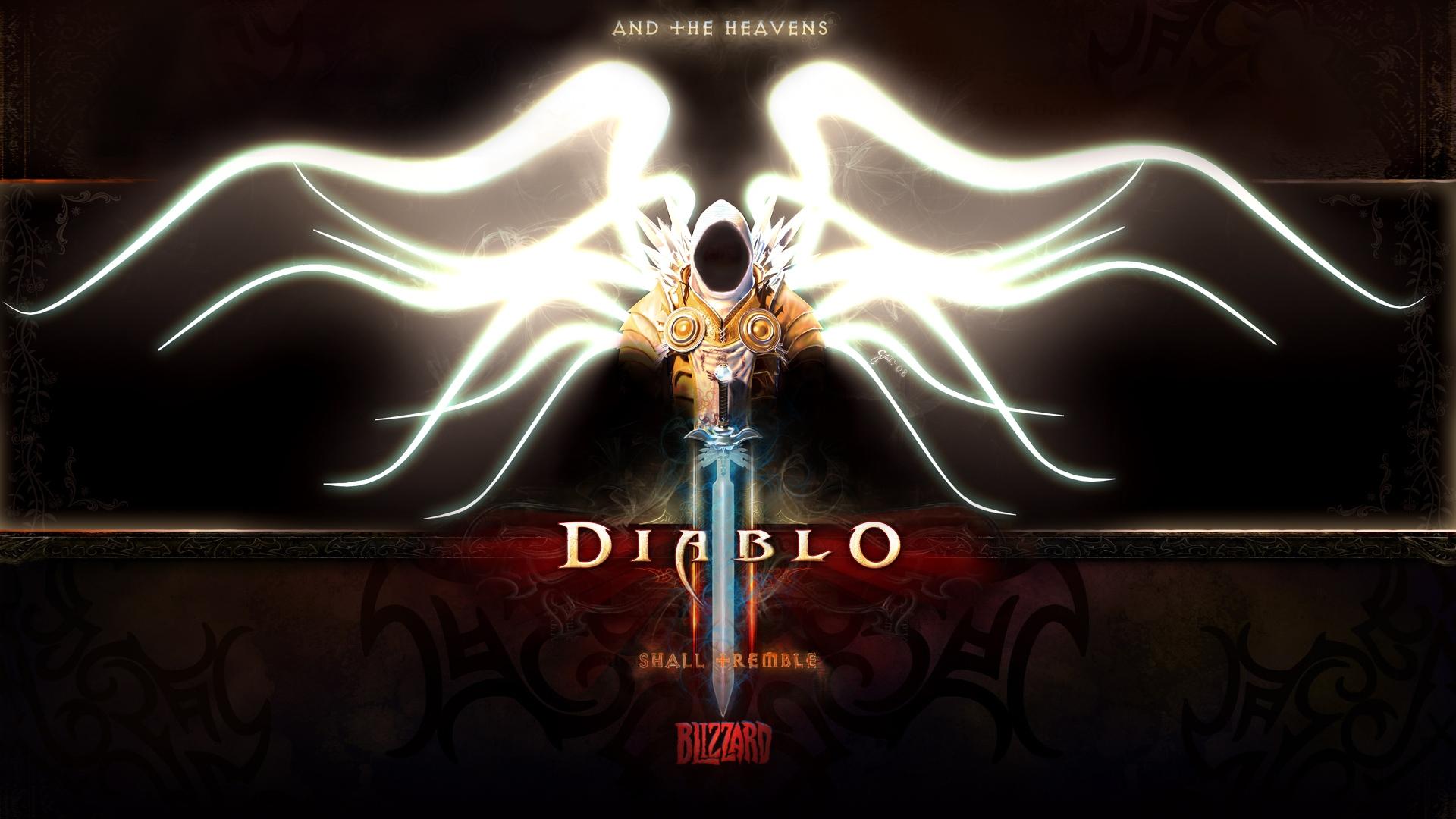 Download Wallpaper 1920x1080 Diablo 3, Tyrael, Angel