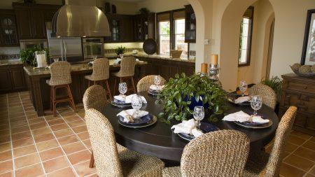 dining room, kitchen, room