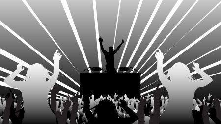 disco, people, dancing