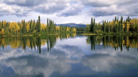 dragon lake, yukon, canada