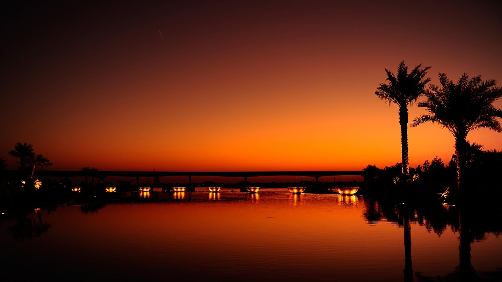 Popular Wallpaper Night Evening - dubai_night_evening_sunset_orange_black_palm_trees_water_light_reflection_58546_1920x1080  Perfect Image Reference-843866.jpg