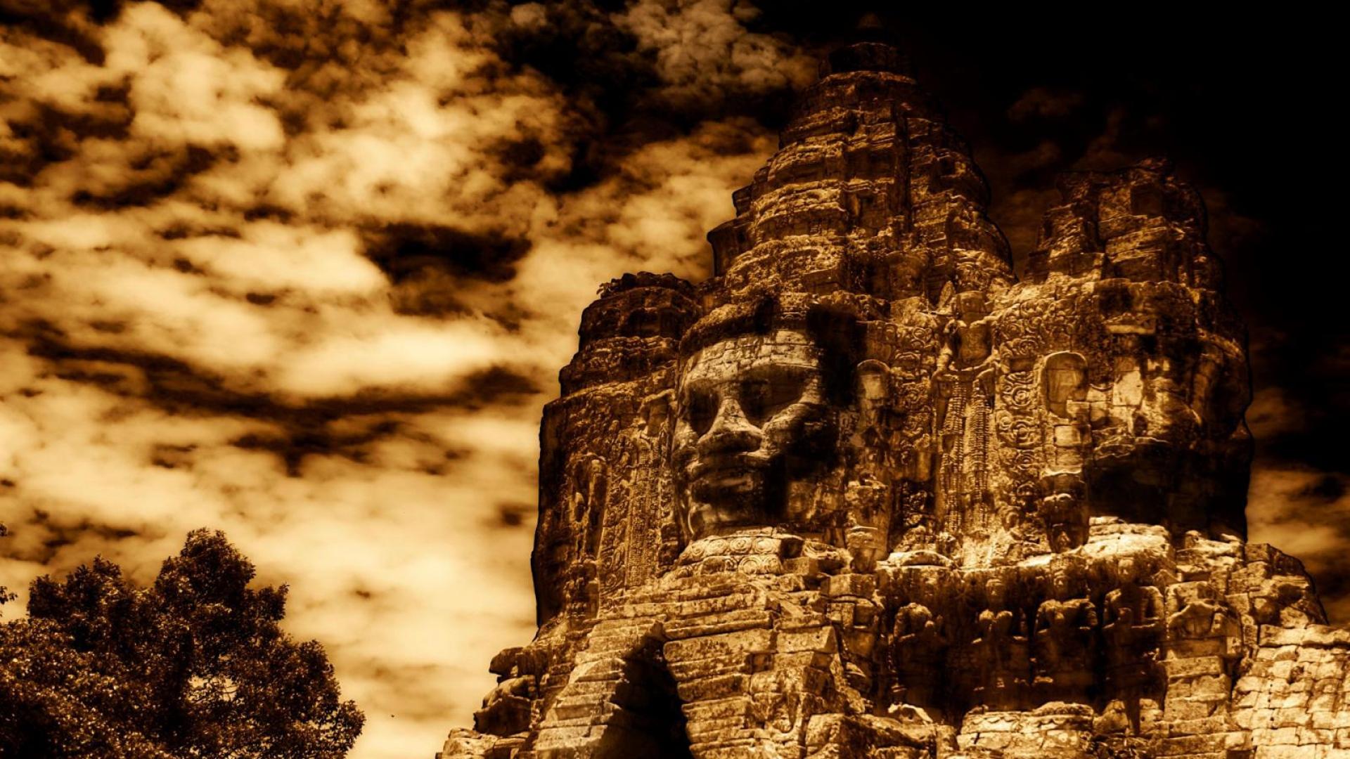 Download Wallpaper 1920x1080 Egypt Ruins Pharaoh Monument Hdr