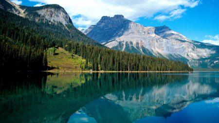 emerald lake, national park, lake