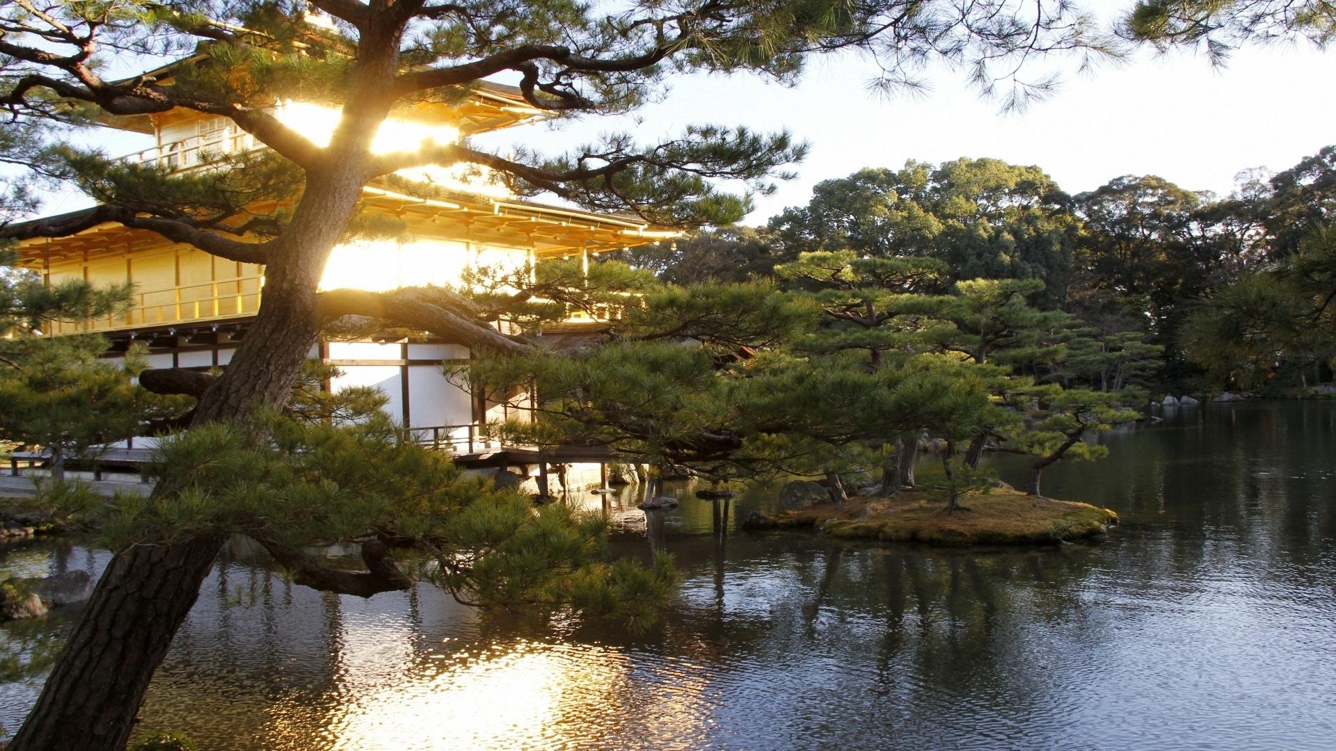 Hd Japan Wallpapers 1080p: Download Wallpaper 1920x1080 Evening, Japan, Mansion