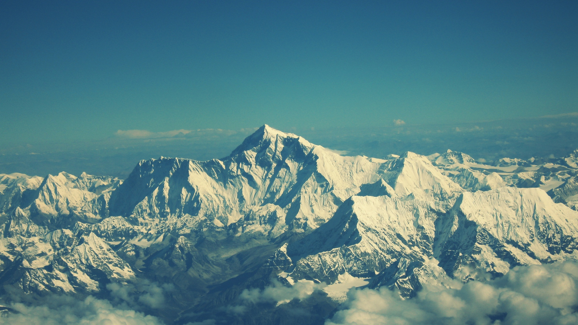 Download Wallpaper 1920x1080 Everest Mountain Sky Tops Full Hd