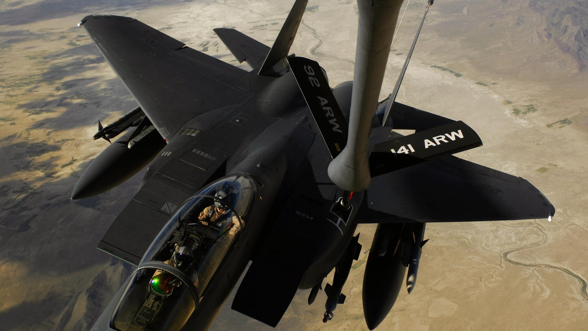 download wallpaper 1920x1080 f-15e strike eagle, us air force