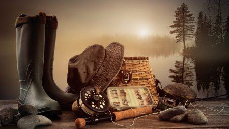 fishing, gear, shoes