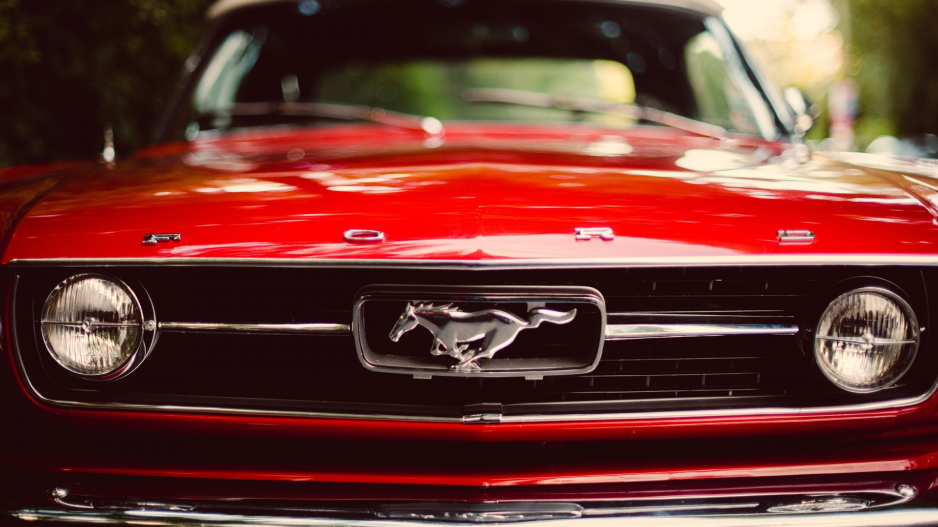 Download Wallpaper 1920x1080 Ford Mustang Redder Auto Full Hd
