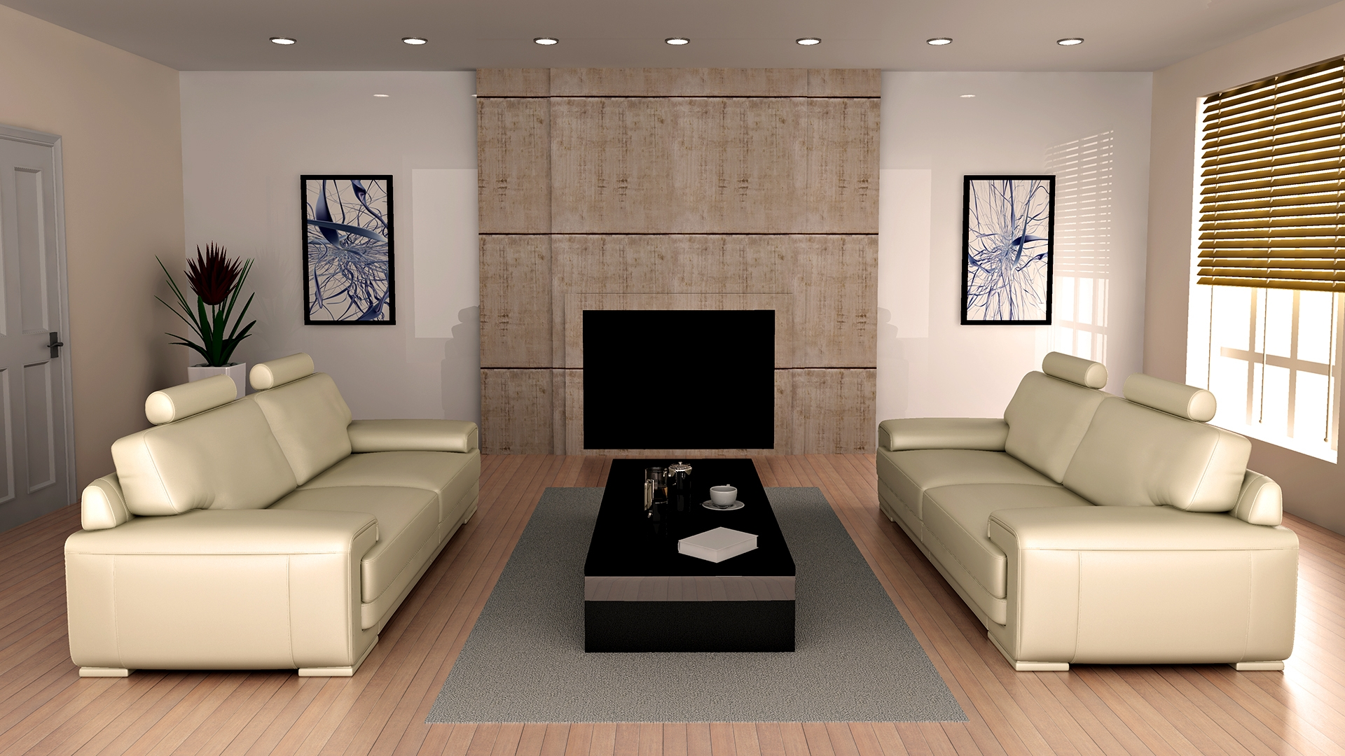 Download Wallpaper 1920x1080 Furniture Design White Living Room Full Hd 1080p Hd Background