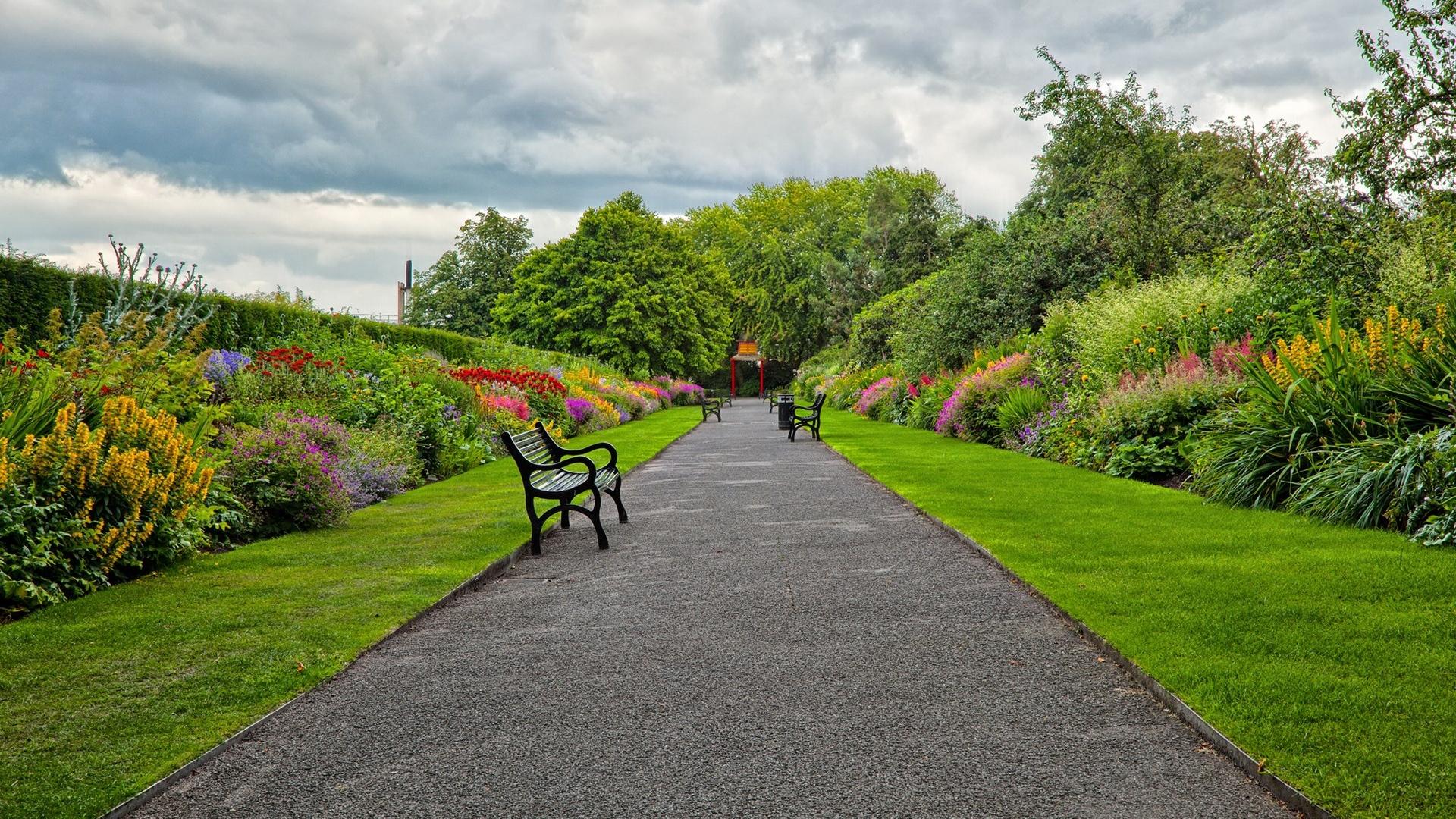 Garden background images