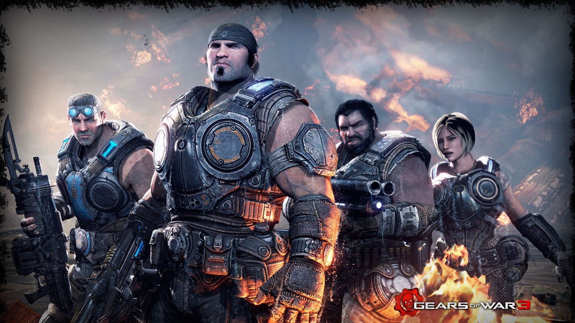 Download Wallpaper 1920x1080 Gears Of War 3, Soldiers