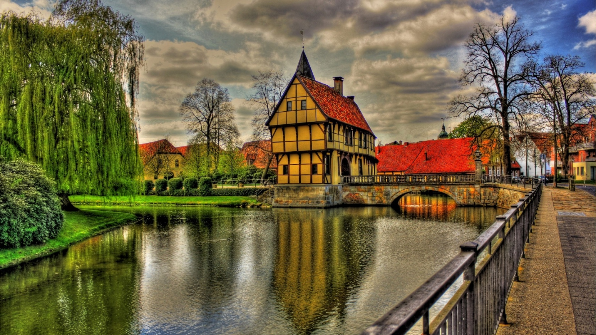 download wallpaper 1920x1080 germany architecture beauty bridge