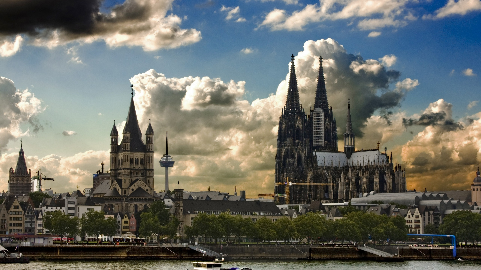 download wallpaper 1920x1080 germany cologne building