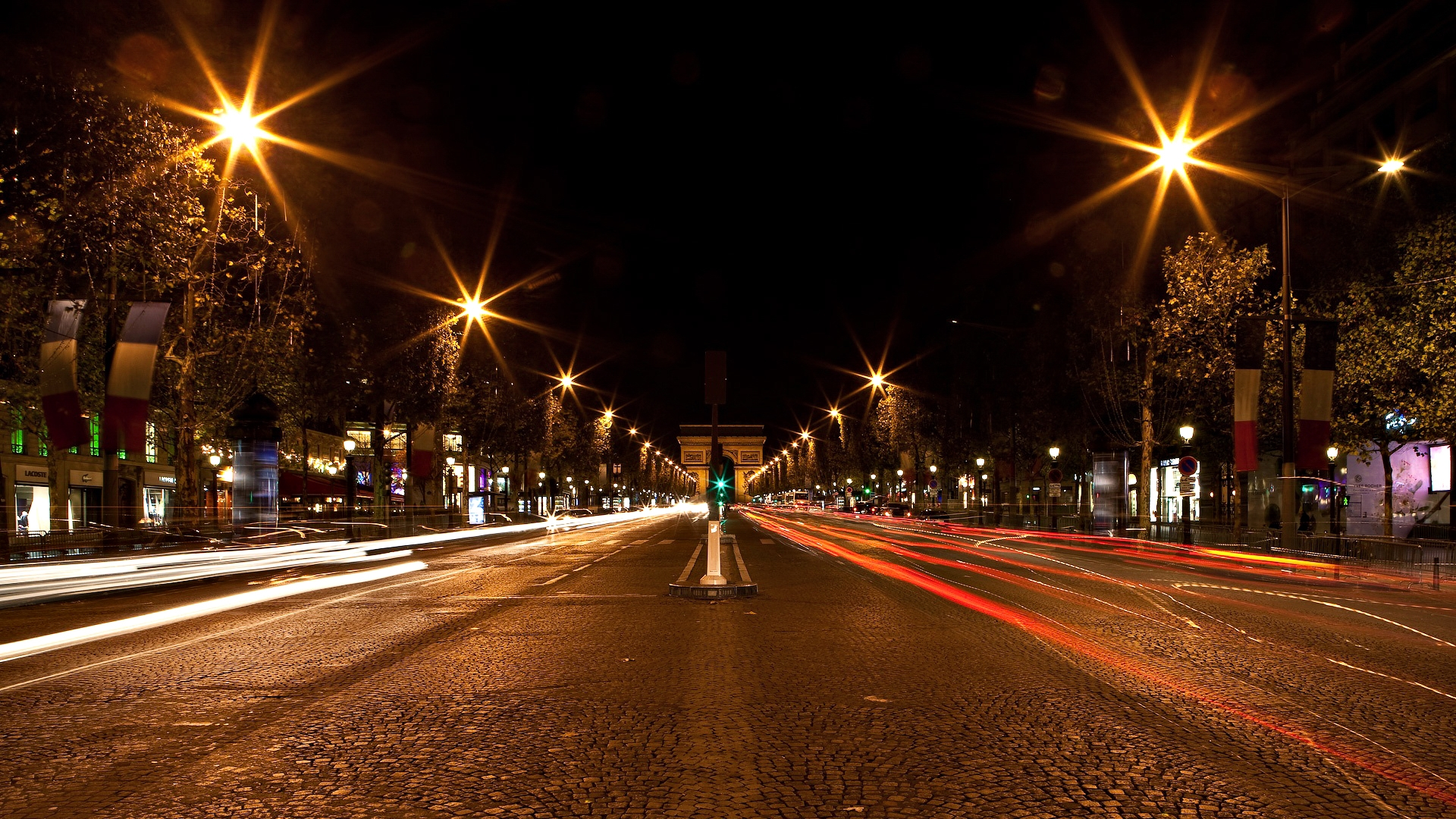 Download Wallpaper 1920x1080 Germany Street Gates Night City