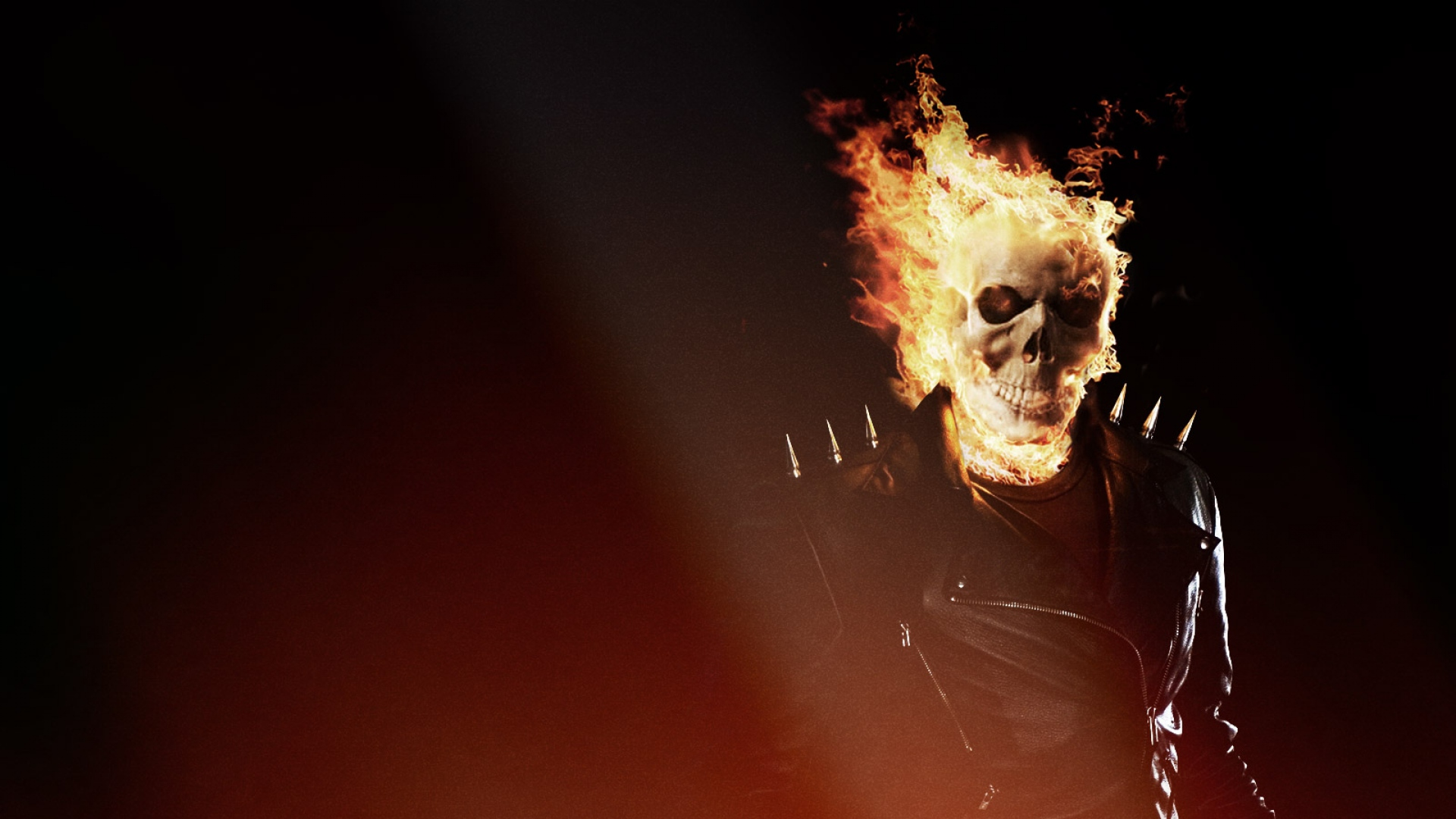 download wallpaper 1920x1080 ghost rider, skull, fire, flame full hd