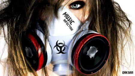 girl, mask, dynamics