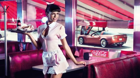 girl, model, waitress