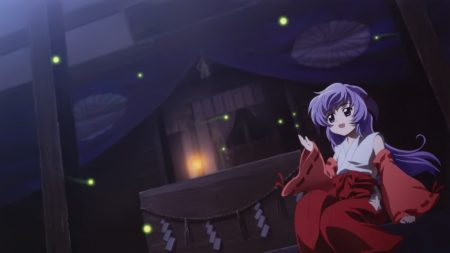 girl, night, kimono