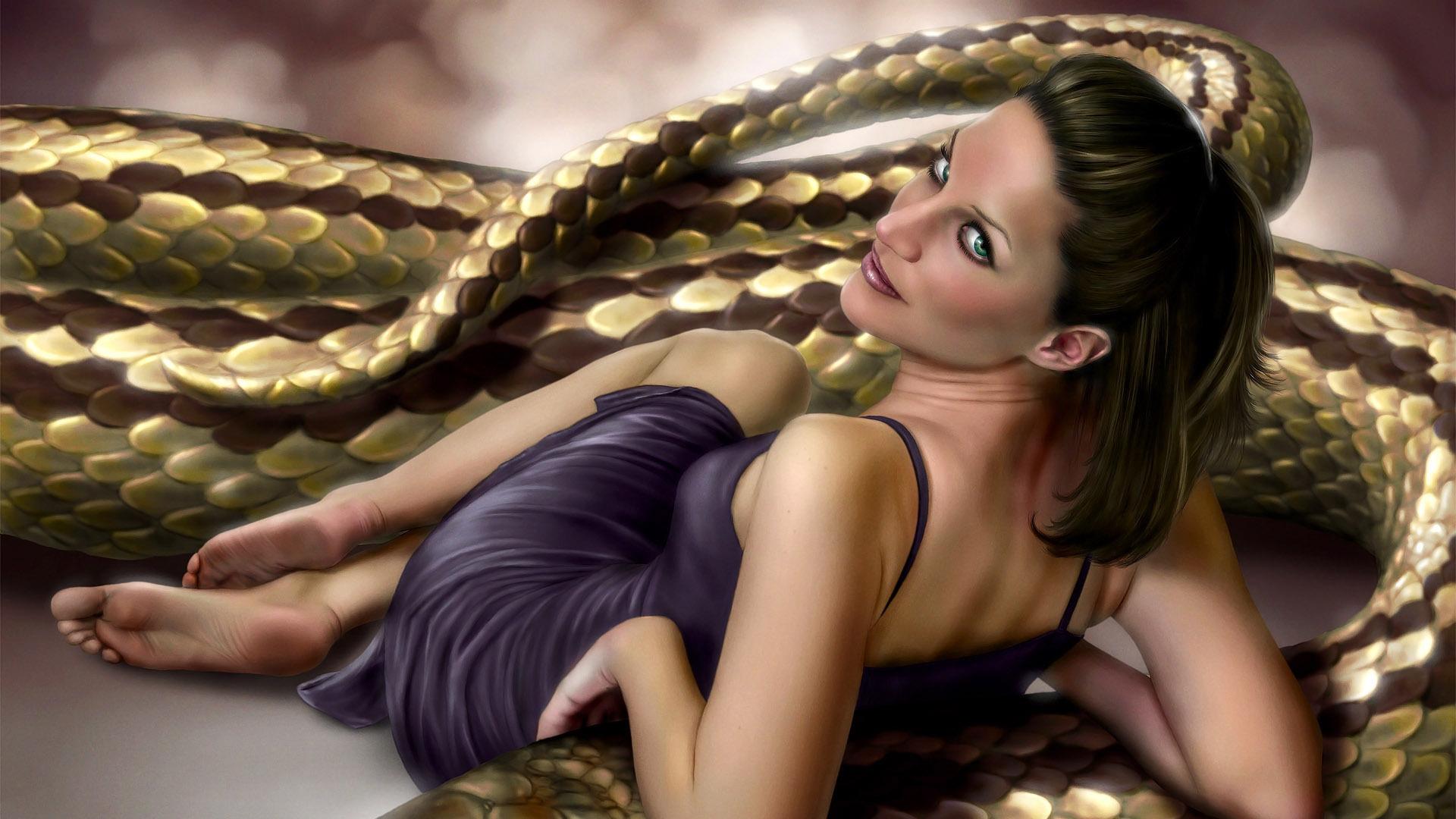 3d snake girl anime videos
