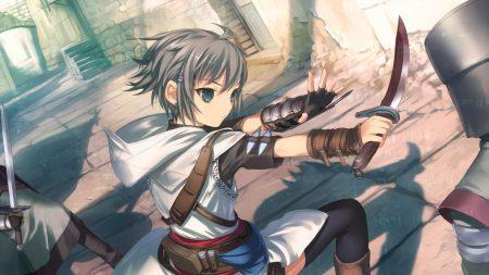 girl, warrior, sword