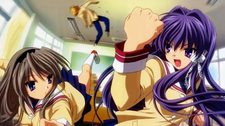 girls, clannad, blow aggression
